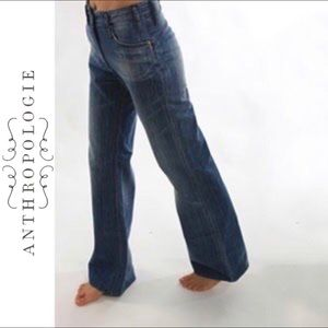 Anthropologie Eairth high waisted flare jeans 29